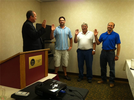 Swearing in the Board